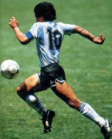 Maradona es un idolo en Argentina
