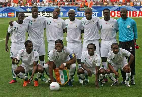 Alineación Costa de Marfil