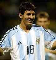 Messi no brilló ante Holanda