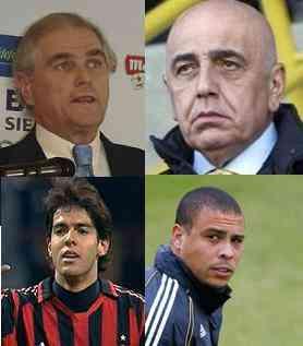 Ronaldo, kaka, Galliany y Calderón