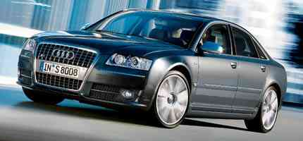 Audi S8 en movimiento