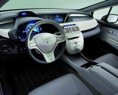 Interior futurista del Honda FCX Clarity