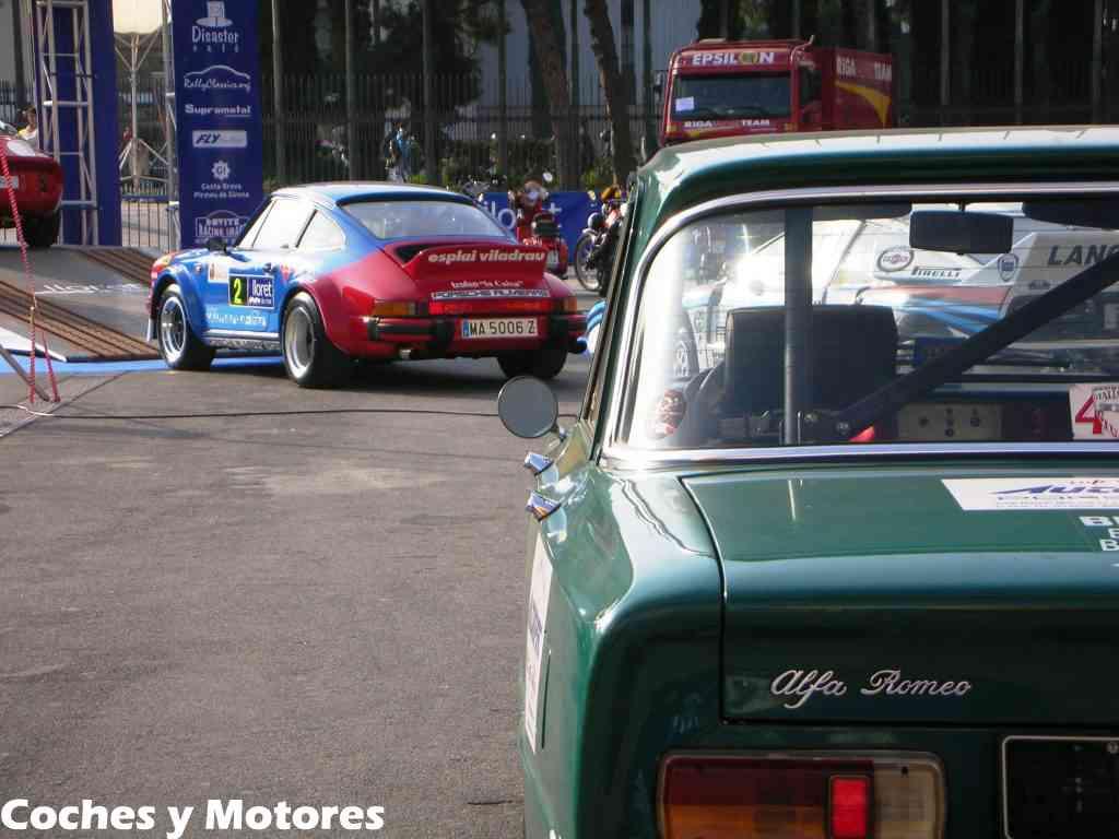 Exposición Auto Retro, coches de rally clásicos: Vista Alfa Romeo doble