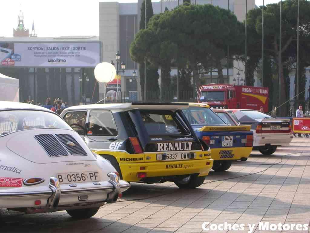 Exposición Auto Retro, coches de rally clásicos: Traseras SC, R5, …