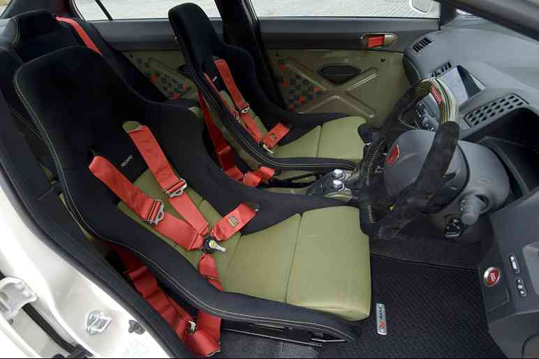 Asientos e inetrior del Honda Sports Modulo Civic Type-R