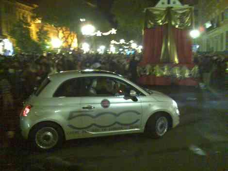 Fiat 500 en la cabalgata de Tarragona