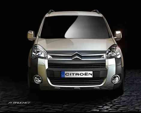 Frontal dibujado de la Citroën Berlingo XTR