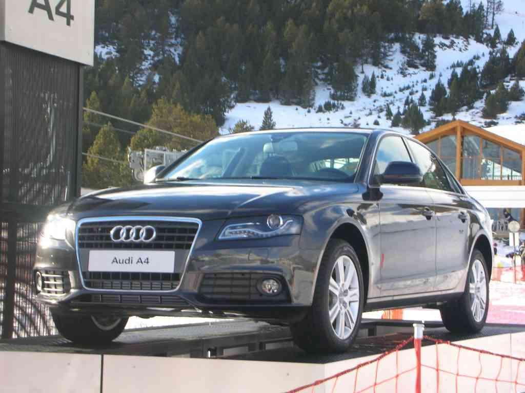 Audi A4 en Grandvalira, vista frontal