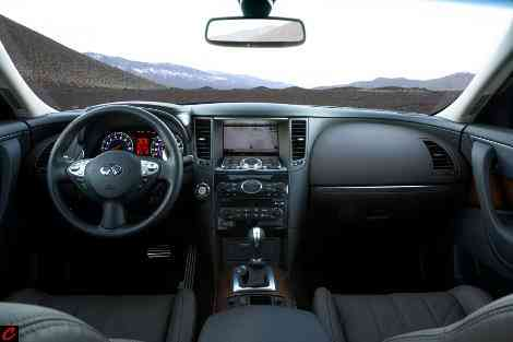 El interior del Infiniti FX50, típicamente americano con rasgos europeos