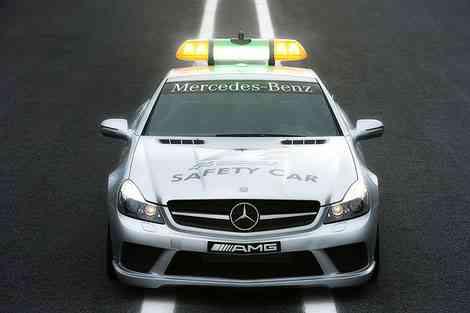 Delantera, frontal, del Safety Car Formula 1 2008, SL 63 AMG