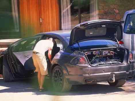El maletero del BMW para <i>Regresar al futuro</i>