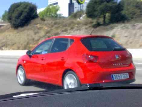 Otra foto del nuevo Ibiza, capturado en la autopista