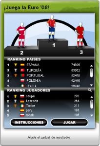 Lanza penaltis en la Eurocopa 2008 con google. 3
