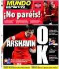 Portada del Mundo Deportivo para la semifinal de la Eurocopa España-Rusia