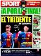 Portada del Diario Sport para la semifinal Eurocopa España-Rusia