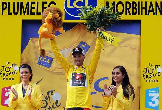 alejandro valverde vencedor y maillot amarillo