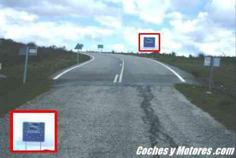Cambio repentino de carretera