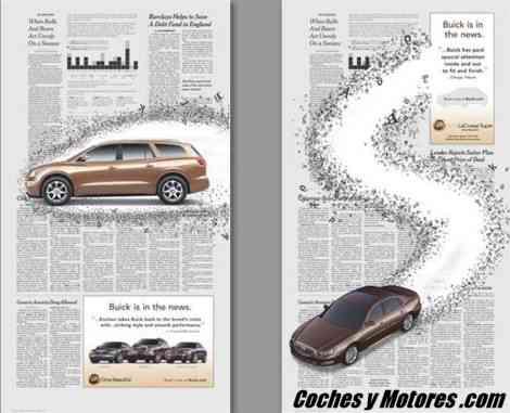 Buick Enclave y LaCrosse, ocupando páginas enteras en el Wall Street Journal