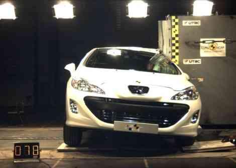 5 estrellas EuroNCAP para el Peugeot 308 CC