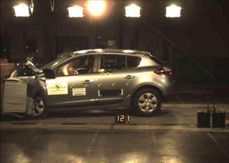 Nuevo Renault Mégane: puntuación récord en el crash test EuroNCAP