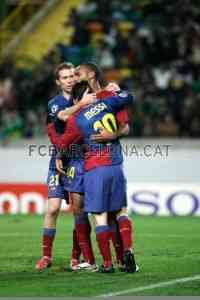 Goleada y liderato del Barça en Portugal