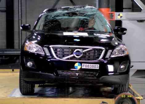 Impacto lateral (pole) del Volvo XC60