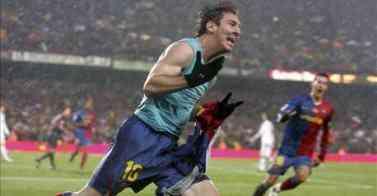 messi celebra gol ante el madrid