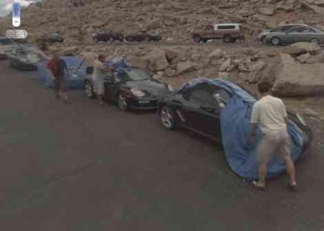 Caravana de Porsche en pruebas capturados por Google Street View