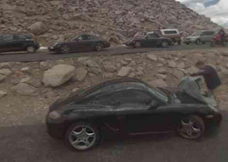 Porsche Cayman facelift, fotos de Google Street View