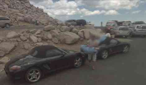Porsche Boxster facelift, capturado en Estado Unidos por accidente