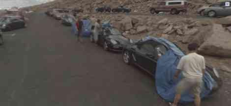 Google Street View fotografía Porsches en fase de pruebas