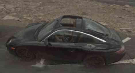 Porsche 911 Targa, fotos espía gracias a Google Street View
