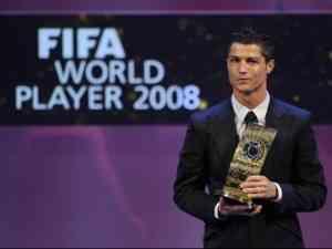 Cristiano Ronaldo, ganador del Fifa World Player 2008