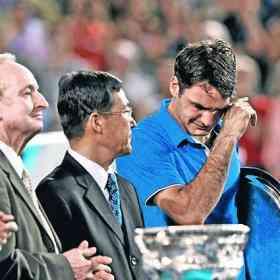 Federer llora en el Open de Australia