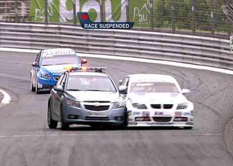 Captura del momento del choque entre el Chevrolet Cruze y el BMW Serie 3
