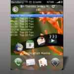 PreBerry - primer tema Palm Pre para BlackBerry Storm 1