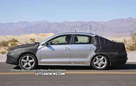 El lateral del Volkswagen Jetta VI se alejará del de su hermano Golf