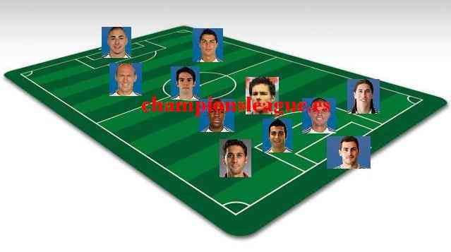 Once ideal del Real Madrid 09/10 3