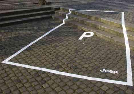 Aquí sólo puede aparcar un Jeep