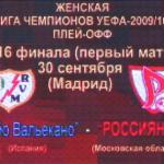 WFC Rossiyanka 2 - Rayo Femenino 1. El Rayo se queda fuera 1
