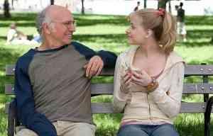 Boris (Larry David) y Melody (Evan Rachel Wood) viviendo su feliz i imposible romance