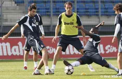 El Real Madrid prepara el partido de vuelta en San Siro