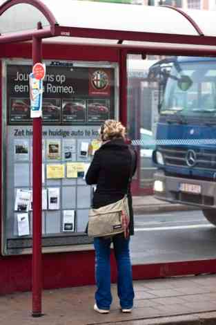La publicidad de Alfa Romeo durante el Salón de Bruselas 19