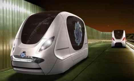 La ciudad del futuro con el coche del futuro 9