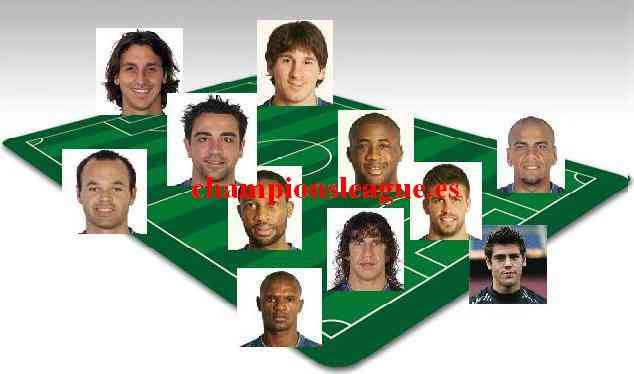 Once ideal del FC Barcelona 09/10 3