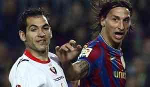 Ibrahimovic abrió la lata del Osasuna y el Barcelona ganó 3