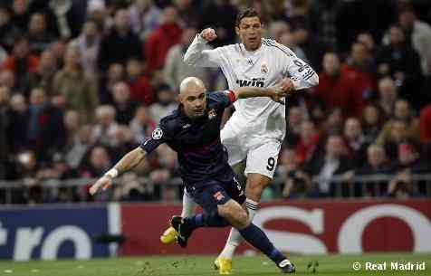 Real Madrid 1 - 1 Olympique de Lyon. Catástrofe galáctica 3