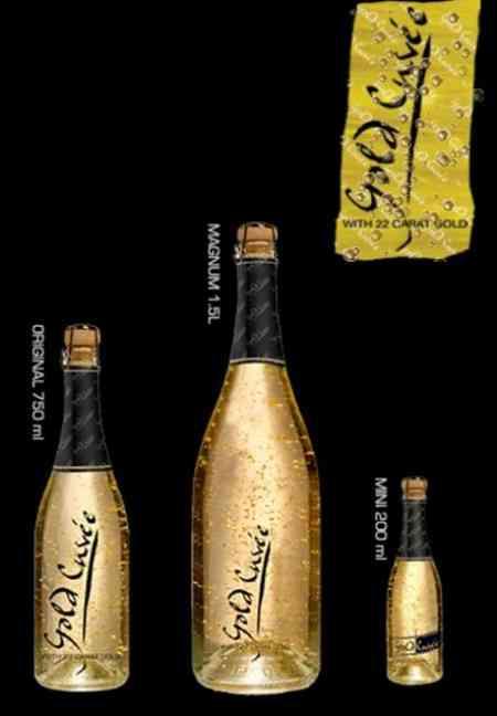 Gold Cuvée, champán con oro 5