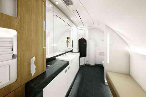 Baños de lujo en los aviones de Lufthansa 8