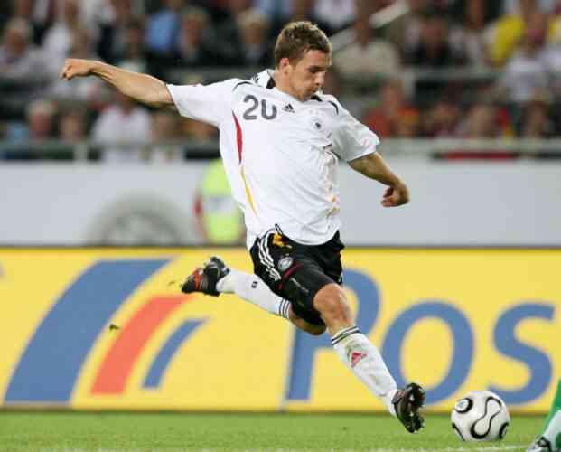 Podolski marca con Alemania en el Mundial de fútbol de Sudáfrica